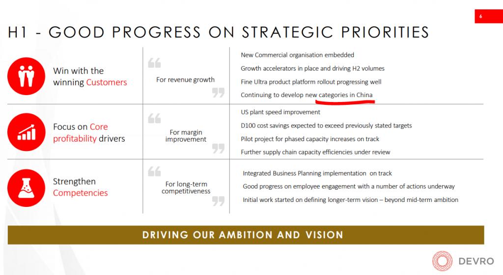 Devro's strategic priorities