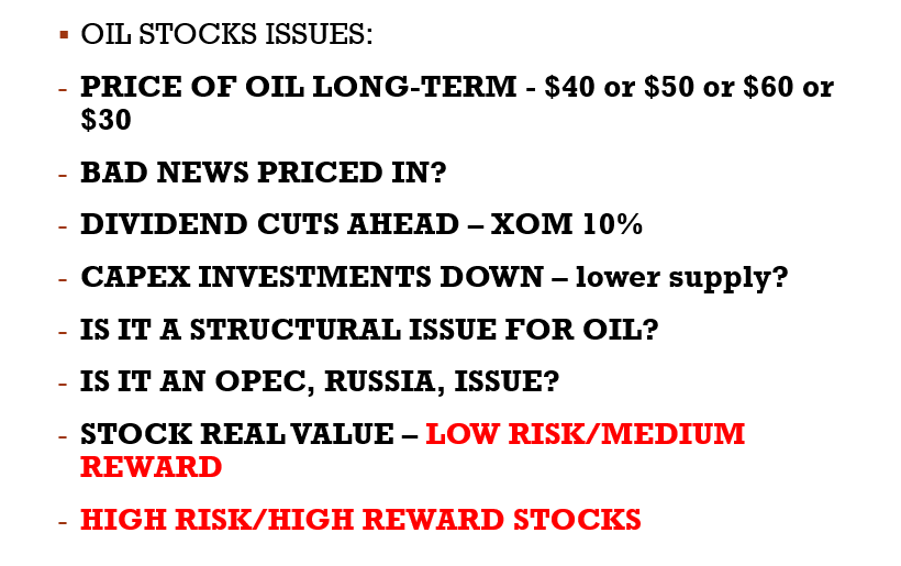 oil stocks issues